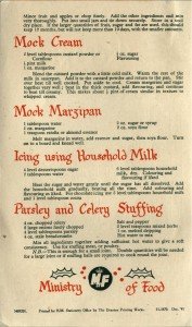Xmas Recipes leaflet - back