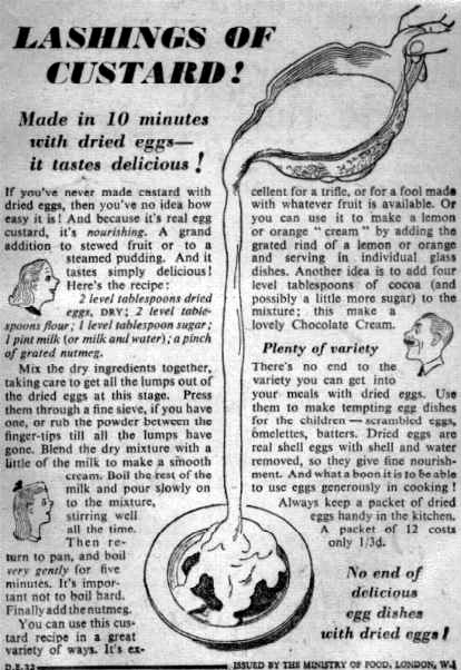 How to Cook with Dried Eggs WW2 Leaflet