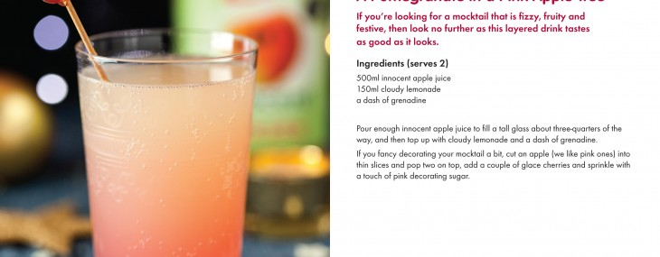 St Lucy's Day,The Twelve Days of Christmas and A Pomegranate in a Pink Apple Tree Mocktail Recipe!