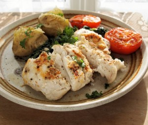 Low-Fat & Low-Calorie Garlic Hake Fillets (5:2 Diet)