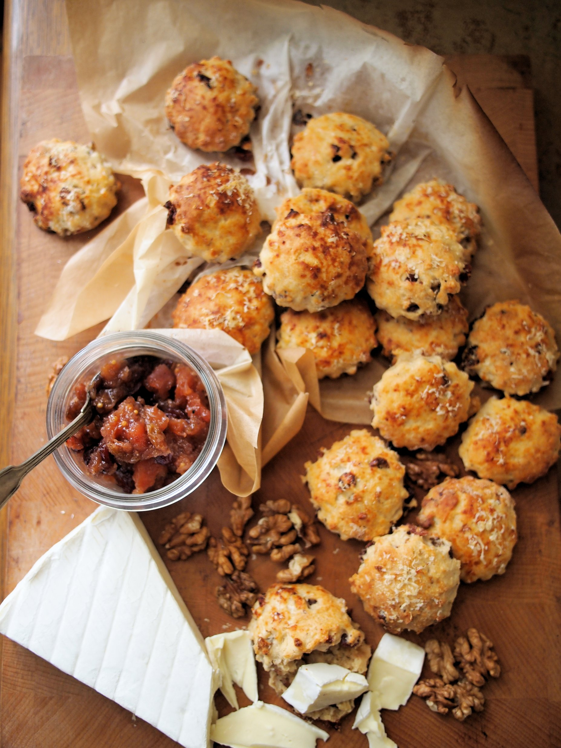 Mini Cheese, Cranberry and Walnut Scones Recipe - Lavender and Lovage