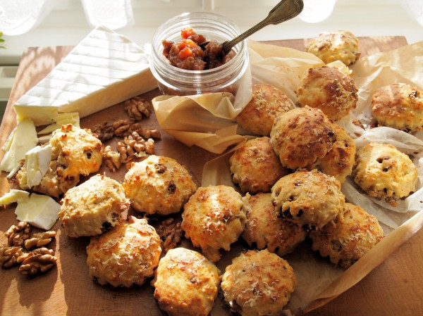 Mini Cheese, Cranberry and Walnut Scones Recipe