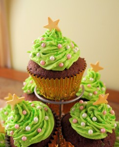 Little Spiced Chocolate Christmas Tree Cakes