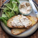 Fish on Friday: Smoked Haddock Spread with Sourdough Toast and Mesclun Leaves