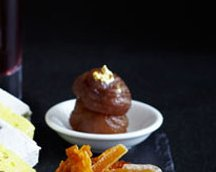 Caramelised Chestnuts with Spiced Syrup Dip