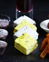 Seasonal Marshmallows with Burnt Orange and Anise Dip
