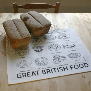 "Giveaway: Win an ""A to Z"" of Great British Food Print & Tea Towel by Edith and Bob"