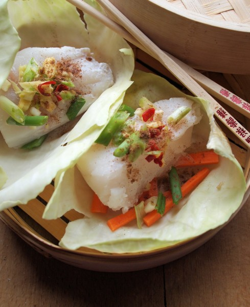 "Steamed Asian Chicken ""Parcels"" Recipe — Dishmaps"