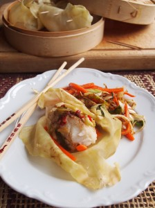 Steamed Asian Fish Parcels