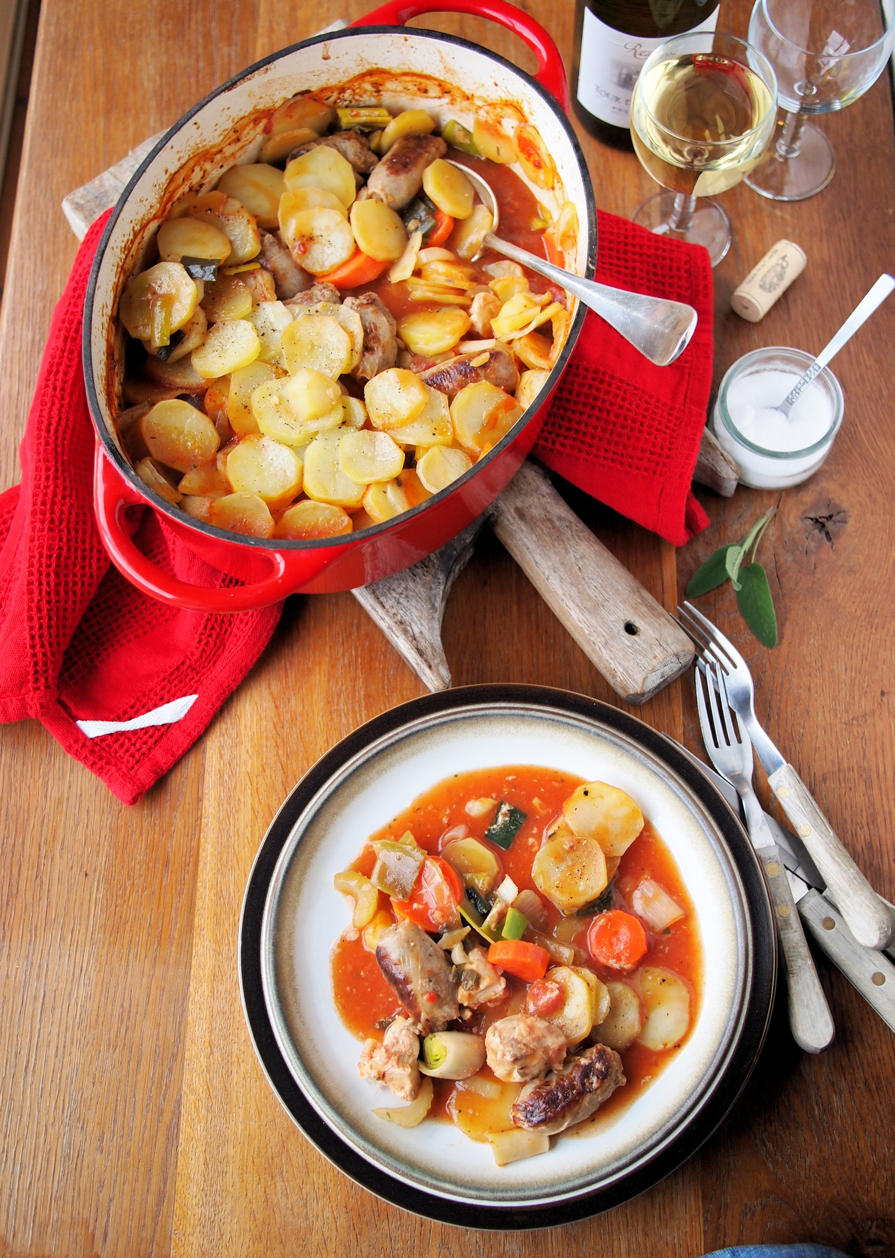 Five A Day Family Supper Recipe Sunday Lunch Chicken Sausage And Vegetable Hotpot