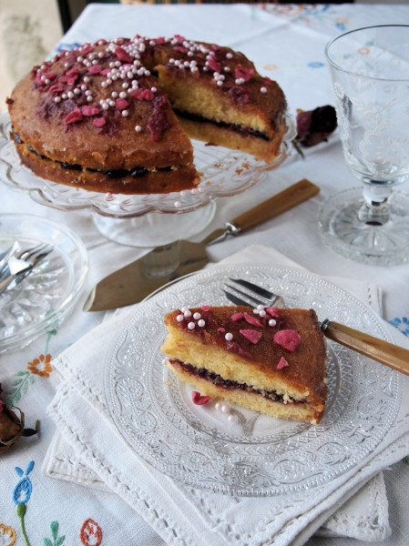 Cardamom Rose Cake with Orange Drizzle