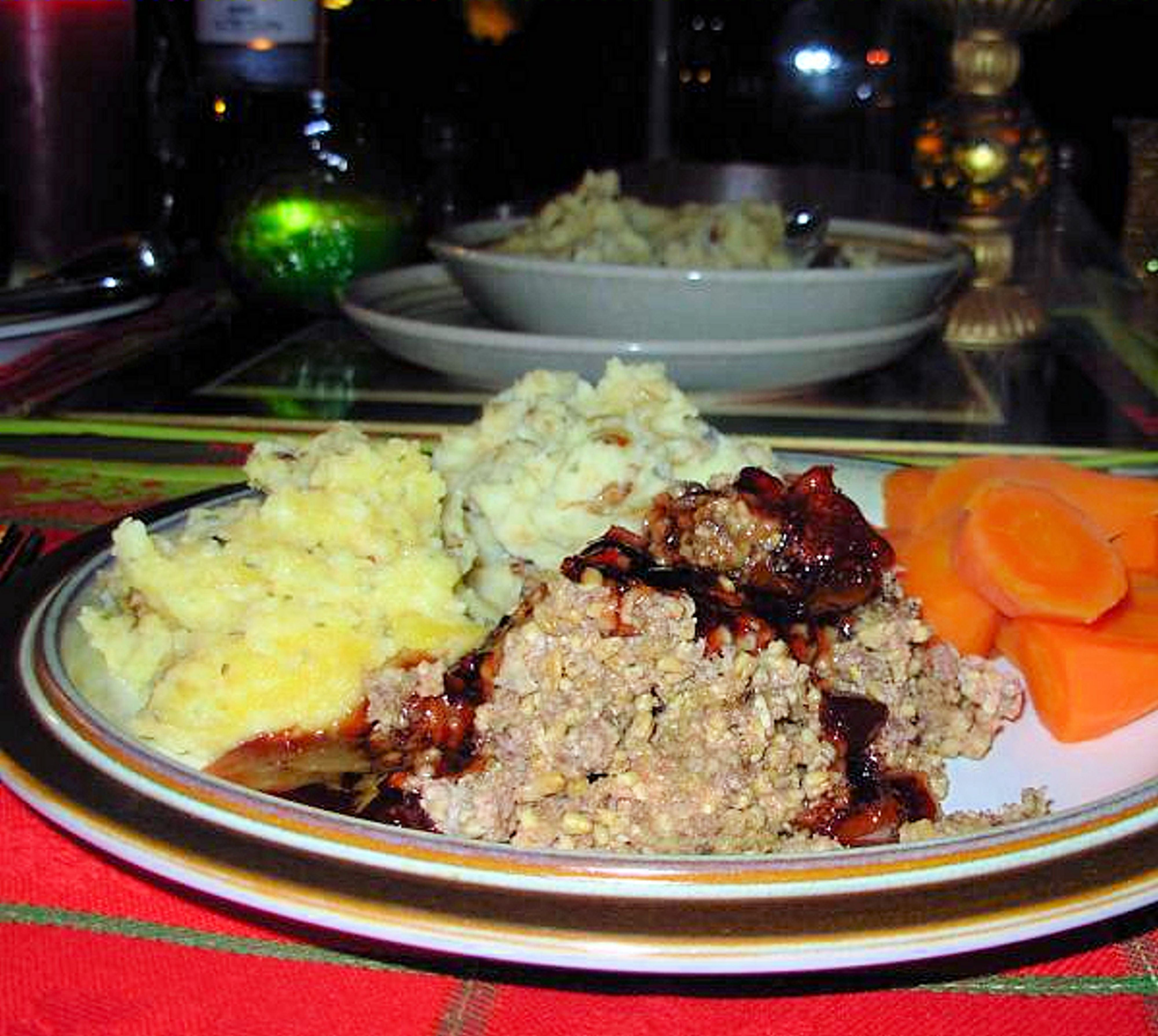 Haggis, Skirlie Mash, Neeps and Tatties