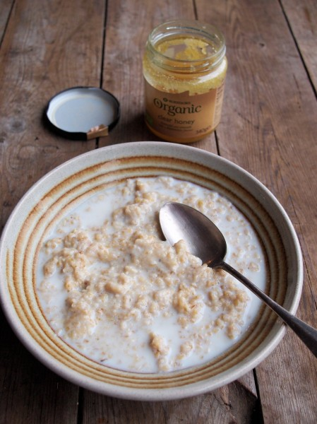 Porridge with Organic Honey