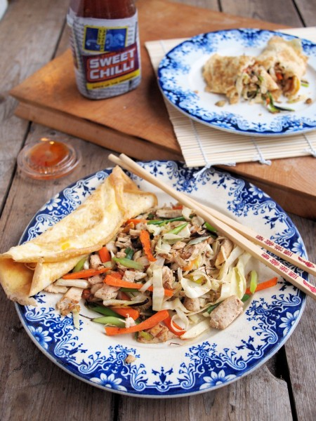 Memories of Hong Kong and Chinese New Year: Chinese Chicken Egg Roll Wraps Recipe