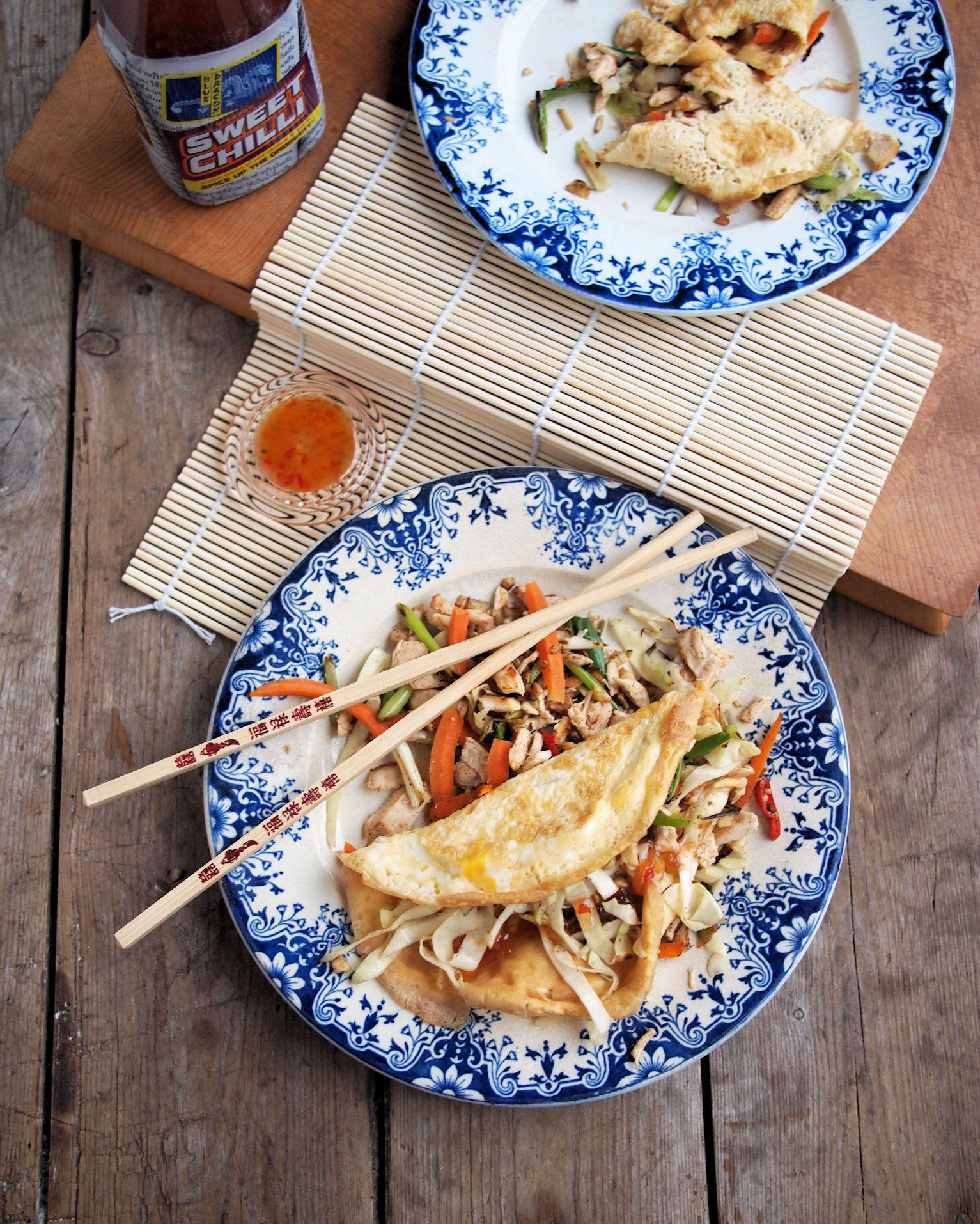 """Chinese New Year"" 5:2 Diet Fast Day Recipe: Chinese Chicken Egg Roll Wraps (225 calories)"