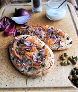 Smoked Salmon Pitta Pizza