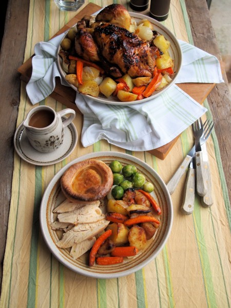 Honey Roast Chicken with Winter Roots