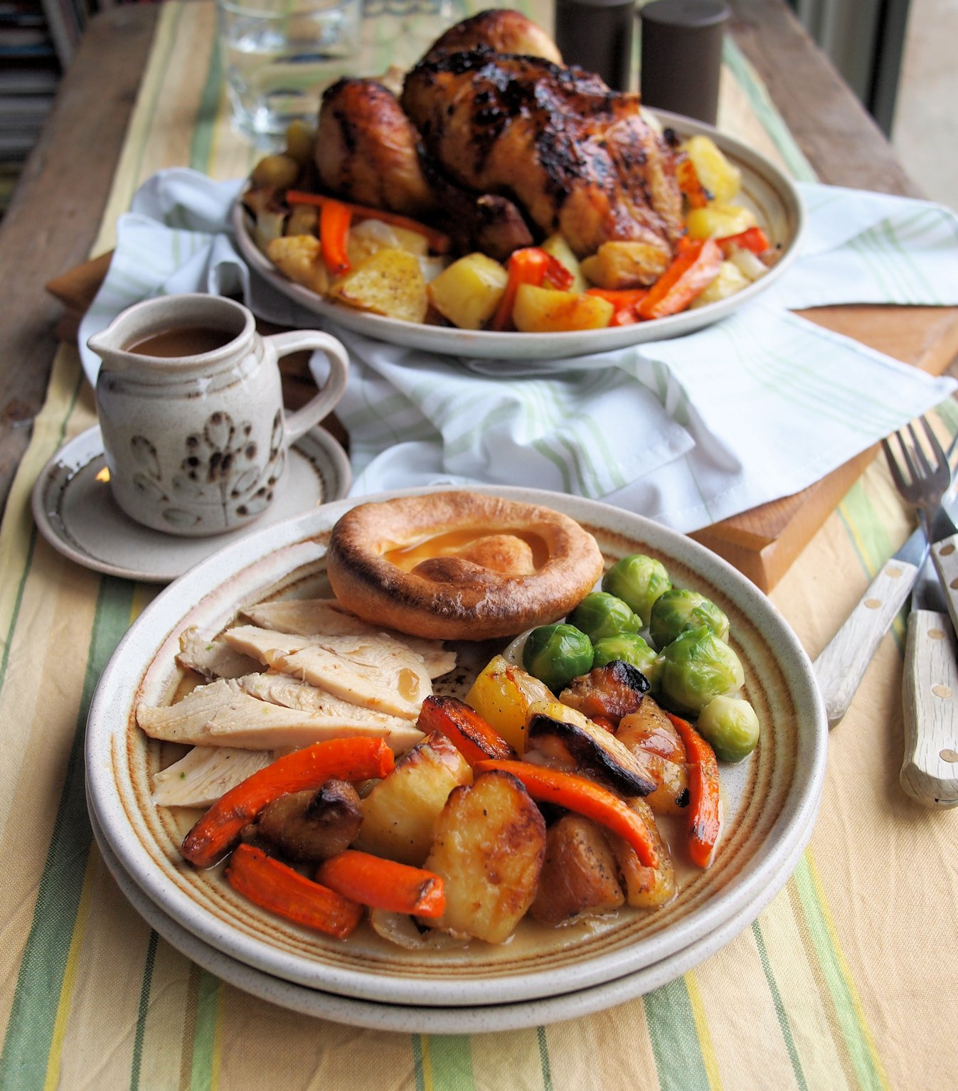 Honey Roast Chicken with Winter Roots