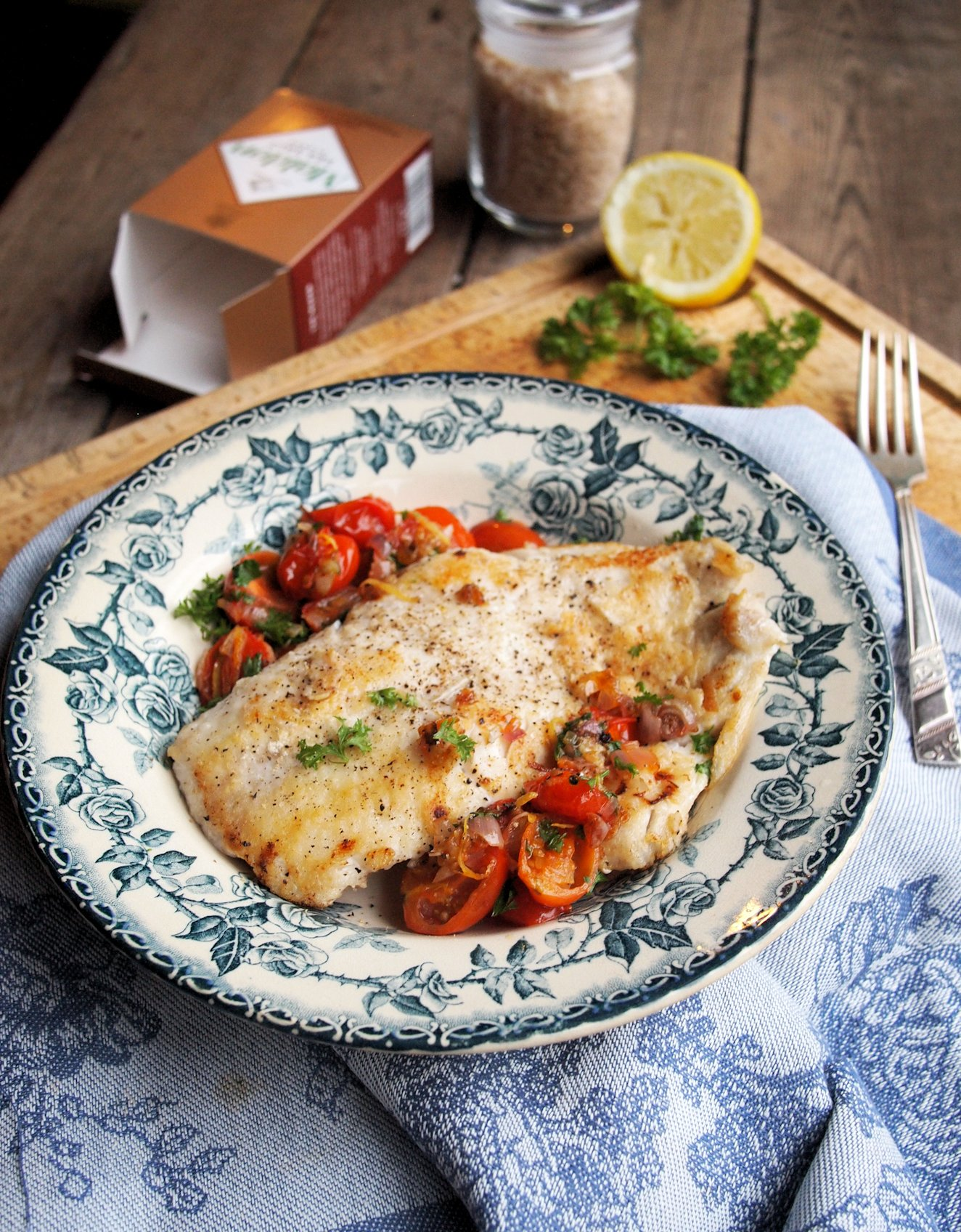 Recipe: Wild Haddock with Smoked Sea Salt Crust and Cherry Tomato Scramble