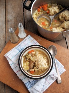 Farmhouse Chicken & Vegetable Stew with Dumplings