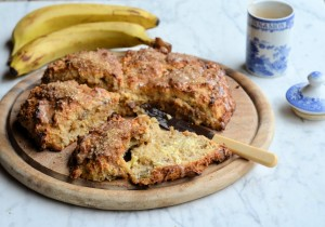 The Secret Recipe Club: Banana Bread Scones with Brown Sugar Glaze