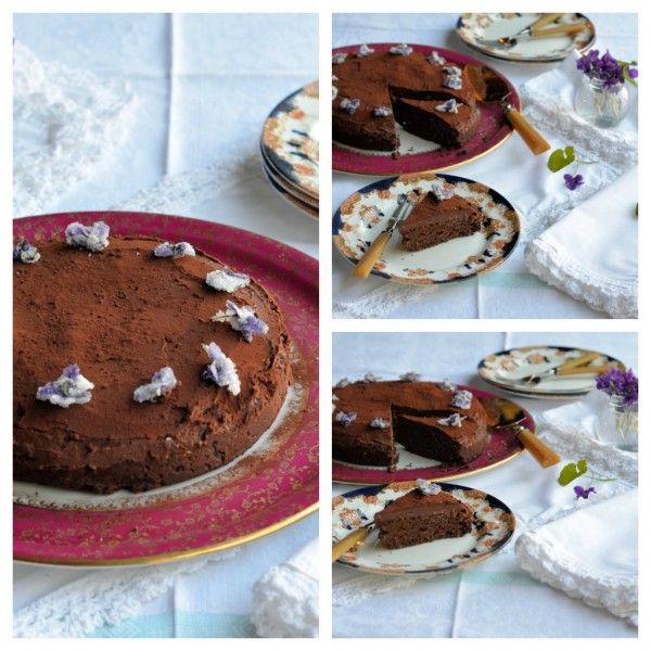 Chocolate Truffle Cake Collage