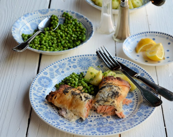 Salmon, Sorrel & Cream Cheese Parcels