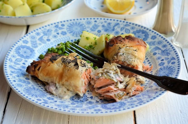 Seductive Salmon! Salmon, Sorrel & Cream Cheese Parcels (Recipe)