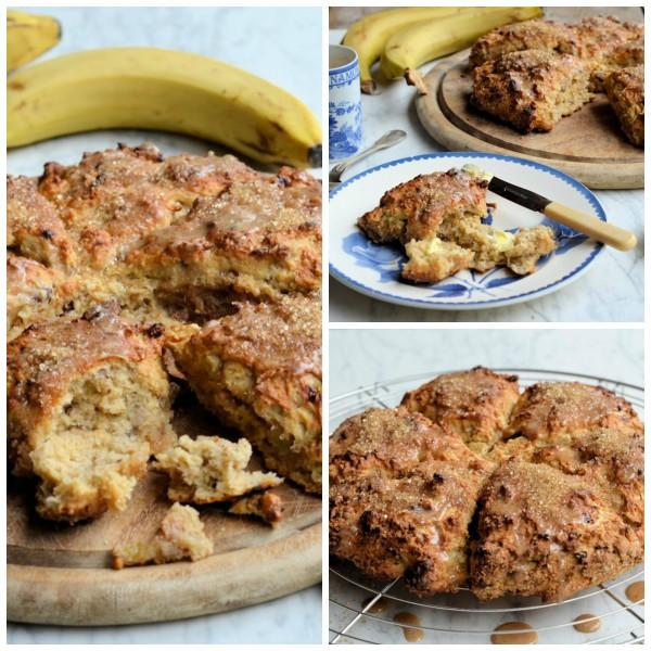 The Secret Recipe Club: Banana Bread Scones with Brown Sugar Glaze