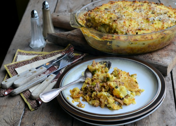 Spiced Shepherd's Pie with Cheesy Leek Topping