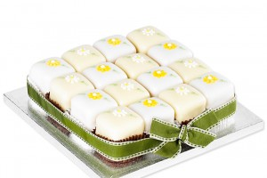 Spring Flowers Fondant Fancies Party Cake