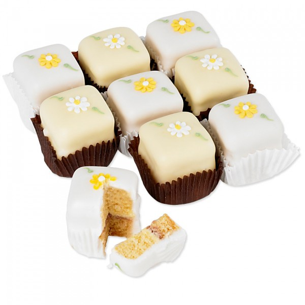 Spring Flowers Fondant Fancies x 9