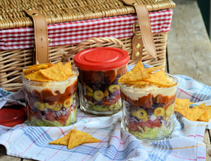 Layered Picnic Salads in a Jar