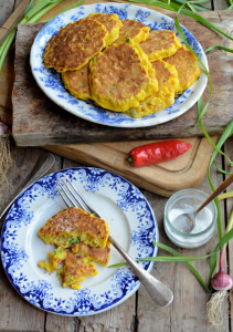 Wild Garlic and Chilli Sweetcorn Fritters