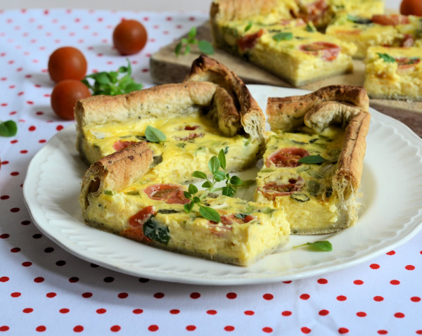 My Kitchen Heroes and a Signature Dish: Cheese, Spring Onion and Tomato Flan Recipe