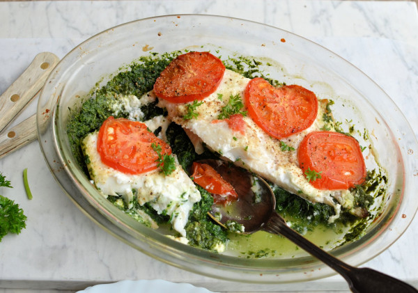 Fish on Friday - 5:2 Diet Fast Day Recipe: Smoked Haddock and Spinach Gratin (200 calories)