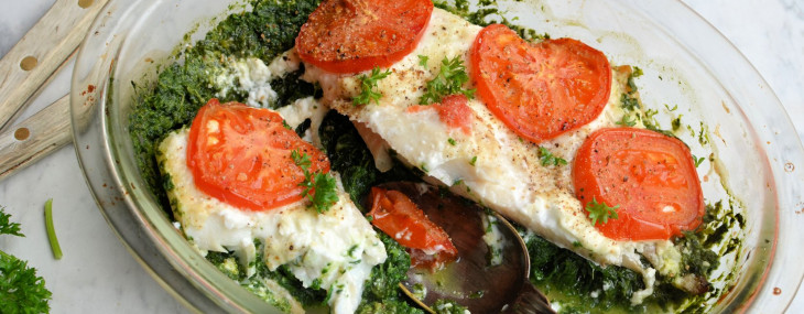 Fish on Friday – 5:2 Diet Fast Day Recipe: Smoked Haddock and Spinach Gratin (200 calories)
