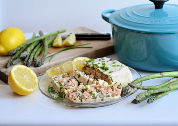 Hot Smoked Salmon and Asparagus Terrine