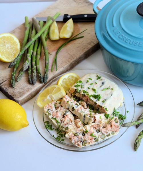 Hot Smoked Salmon and Asparagus Terrine
