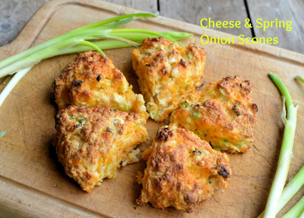 Cheese and Spring Onion Scones Recipe