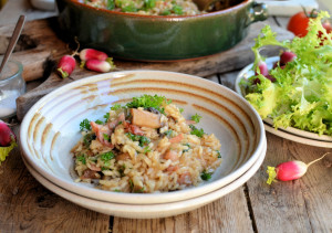 Easy Baked Bacon and Mushroom Risotto (Low-Calorie)