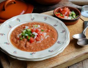 "Flamenco ""100 Calorie"" Gazpacho Soup"