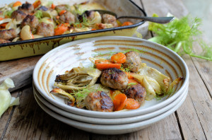 Sausage Meatball and Fennel Bake