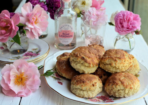 Rose Lemonade Scones