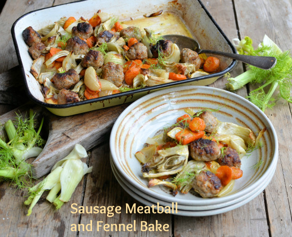 Sausage Meatball and Fennel Bake recipe
