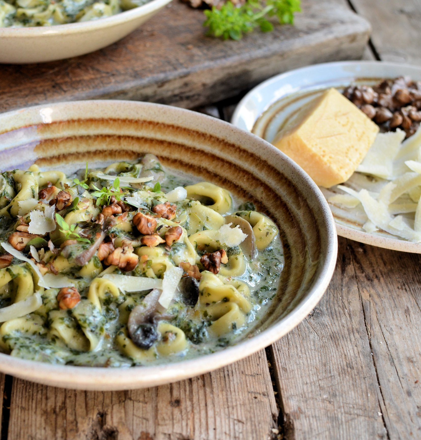 The Secret Recipe ClubCreamy Tortellini, Mushroom and Spinach Soup