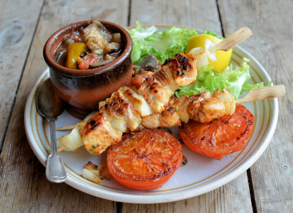 Lemon and Sweet Pepper Chicken Kebabs