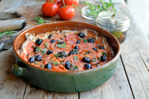 A Nomad in my Kitchen! Plus, My Big Fat Greek Tomato, Olive and Caper Tart