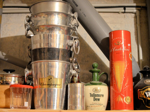 Champagne Buckets, Whisky Bottles and Tins