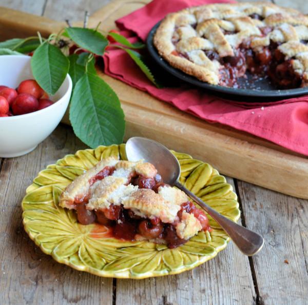 vintage French Sarreguemines cherry plate